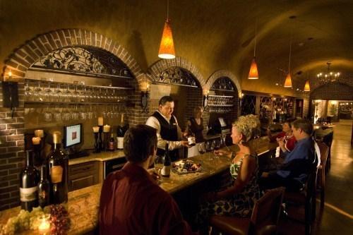 The Meritage's underground wine cellar