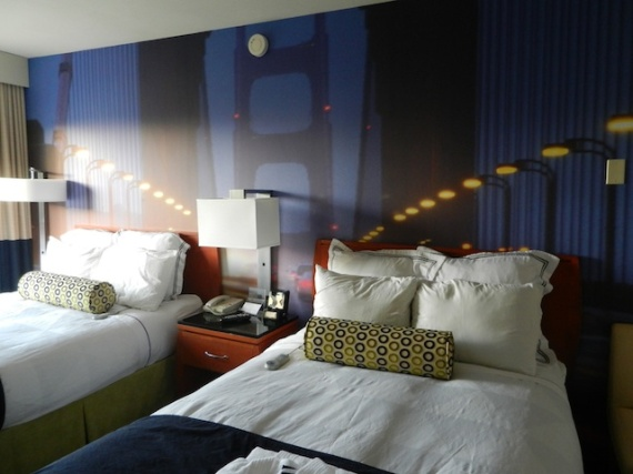 A newly designed room at The Radisson Fisherman Wharf