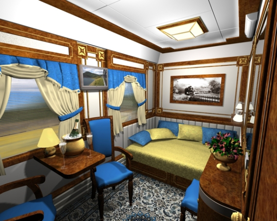 This is a luxury private car on the Trans-Siberian Railway... This is how it's done, fellas